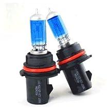2pc 12v 55w 9007/hb5 Xenon Gas Super White High/low Beam Light Bulbs 5000k 1pair