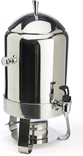 60-cup Coffee Urn with Chafer Fuel Container, 2.9 Gallon Capacity, Hot Beverage Dispenser with Lift-off Lid and Pull-down Lever for Spring Spigot, Stainless Steel