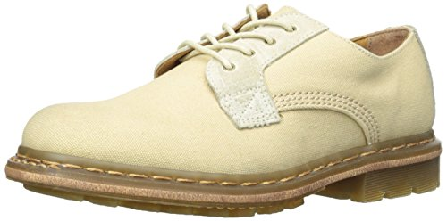 Shoe Canvas Bronx (Dr. Martens Men's Marston 4-Tie Shoe Casual Shoes,Beige Burnished Bronx Suede/Waxed Canvas,9 M UK)