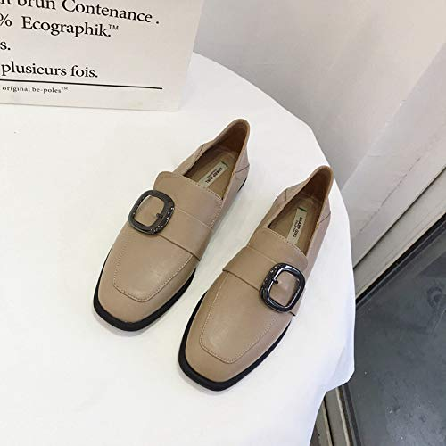 Womens Tassel Suede Loafers Square Toe Plaid Moccasins Ladies Dress Shoes