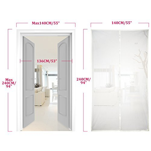 Apalus Magnetic Screen Door 140 X 240cm Super Fine Mesh Fly Curtain