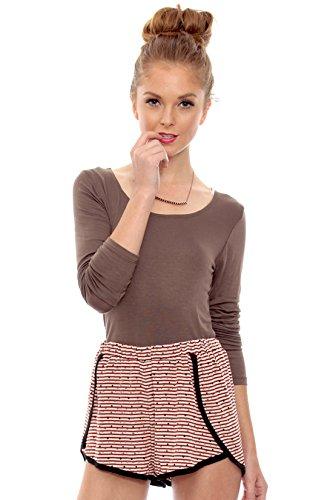 Womens-Stripes-Lounge-Shorts