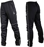 DuShow Autumn and Winter Warm Fleece Cycling Pants(No padded) Windproof Outdoor Leisure Trousers