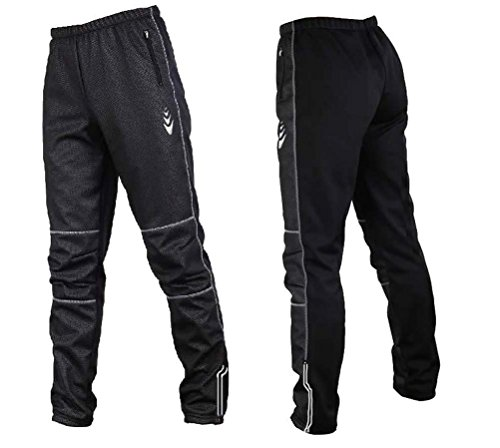 Autumn and Winter Warm Fleece Cycling Pants Windproof Outdoo