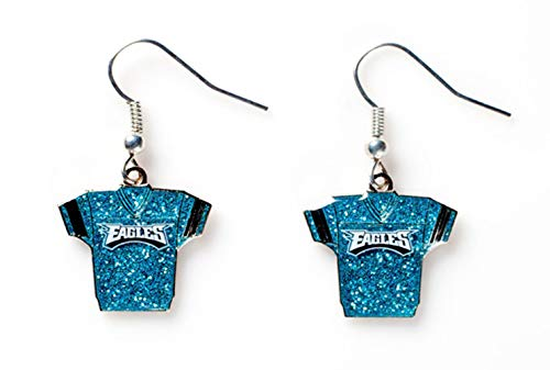 Womens Nfl Fashion Jersey - NFL Philadelphia Eagles Glitter Jersey Earrings