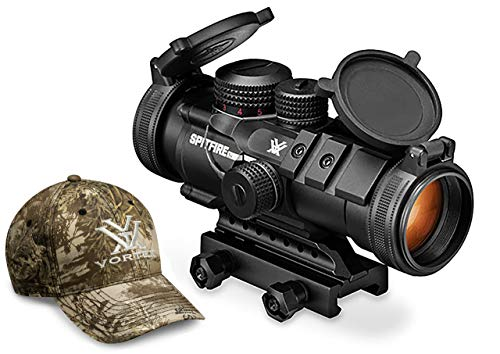 - Vortex Optics Spitfire 3X Prism Scope - EBR-556B Reticle (MOA) with Baseball Hat