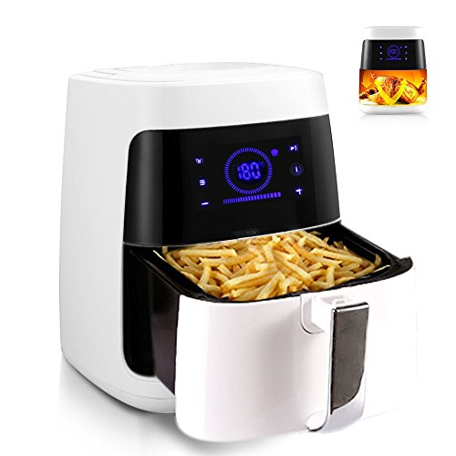 Belovedkai Air Fryer - Electric Air Fryer 2.5L Smokeless French Fries Machine w/ LCD Screen For Healthy Oil Free Cooking