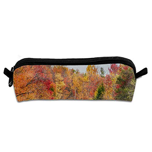 Pencil Bag Autumn in The Hudson River Valley Inspiring School Pouch Zippered Makeup Bags Case for Girls
