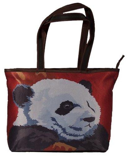 Panda Shoulder Bag, Vegan Tote Bag - Animal Prints - From...