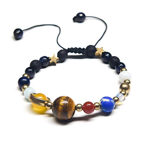 Alaxy Charm Prayer Beads Natural Energy Women&Men Beads Bracelet Healing Bangle - Meditation, Healing, Natural, Self Confidence, Holistic (Galaxy Natural Stone) ()