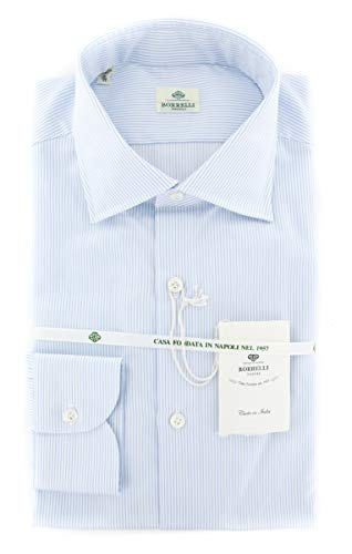 Luigi Borrelli New Light Blue Striped Extra Slim Shirt