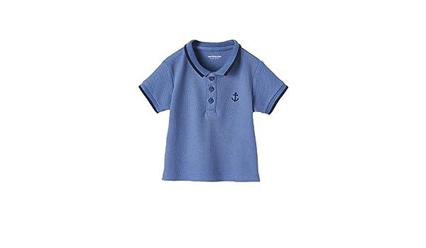 VERTBAUDET Polo para bebé niño con Bordado en el Pecho Azul Medio ...