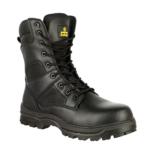 Amblers Safety - Black - Lace-Up Safety Footwear - Size 6