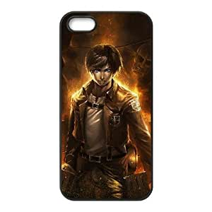 Custom for iPhone 4 4s Cell Phone Case Black Attack on Titan Theme DG0439