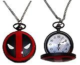 Marvel Comics DEADPOOL Logo Red/Black Pocket/Pendant WATCH