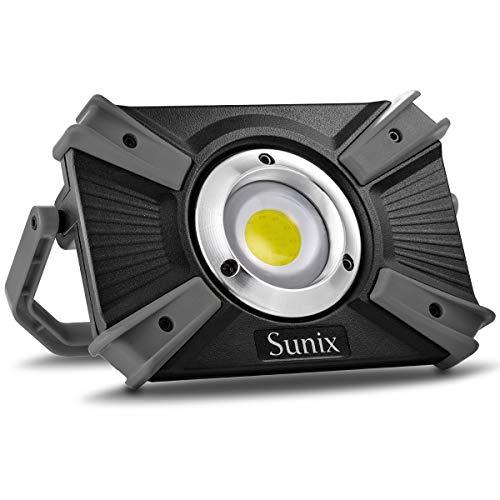 20W LED Arbeitsscheinwerfer, 1600 LM wiederaufladbar handlich mit Magnetklammerständer Kabelloses Lampe SOS-Modus…
