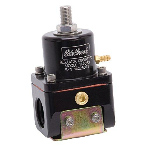 Edelbrock 174053 Fuel Pressure RegulatorBypass Style 180GPH Blk