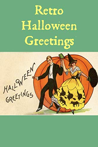 Retro Halloween Greetings: A Blank Lined Retro Halloween Greetings Journal -