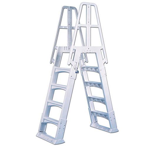 (Vinyl Works Slide-Lock A-Frame Above Ground Pool Ladder)