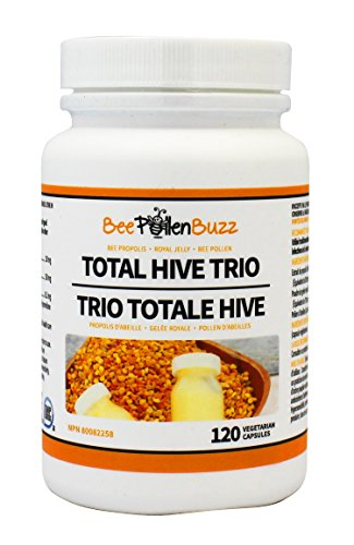 Total Hive Trio 120 caps - Royal Jelly, Propolis and Bee Pollen in 1 capsule by Bee Pollen Buzz