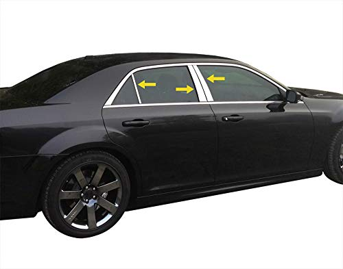 Made In USA! Works With 2011-2017 Chrysler 300 6PC Stainless Steel Chrome Pillar Post Trim
