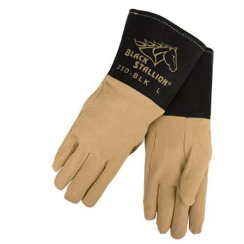 Revco Black Stallion 25D-BLK Premium Deerskin TIG Welding Gloves, Small by Revco