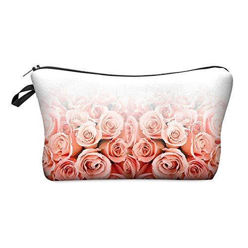 (Women Cosmetic Bag Travel Case Storage Bag Cosmetic Bag(Gradient roses) N2M8)