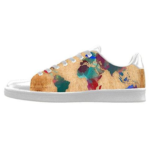 Disfrutar Custom Mappa del mondo Mens Canvas shoes I lacci delle scarpe in Alto sopra le scarpe da ginnastica di scarpe scarpe di Tela. Footlocker Aclaramiento OW0hQO