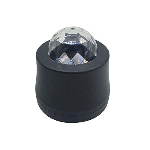 XMDZ USB Discolicht Mini LED Disco Lichteffekte Musikgesteuert Strobo Beleuchtung Lampe RGB 6 Farbe fü r Auto Computer Usb-Anschluss Gerä te mit Saugnapfhalter