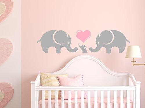 Elephant Family Wall Decal - Elephant Wall Decall- Vinyl Wall Art Sticker Decal - Decor Wall Decal - Wall Decal - Perfect for a Gift (15