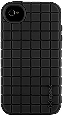 Speck Products PixelSkin Rubberized Case for iPhone 4/4S - 1 Pack - Carrying Case - Black (Speck Iphone 4s Phone Case)
