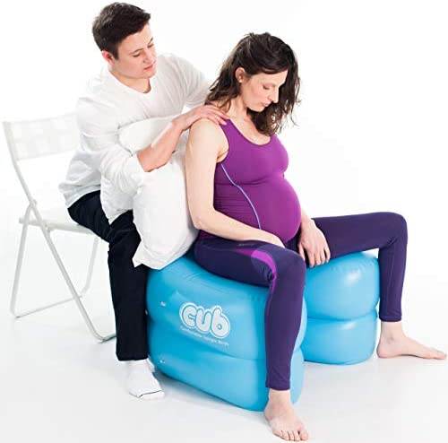 CUB Support for Pregnancy, Labor and Birth. Can Relieve Pregnancy Pelvic Pain, Promotes Safe, Healthy and Natural Birth Positions. Much More Than a Stool or Birthing Ball Color Teal One Size
