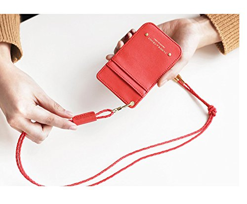 MADE IN KOREA - BADGE HOLDER / CARD WALLET (Candy Apple Red)