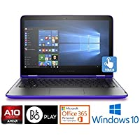 "HP Pavilion 15 Laptop, AMD A10 Quad-Core, 8GB, 15.6"" Touchscreen, Office 365 1Yr (Certified Refurbished)"
