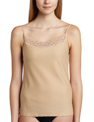 ExOfficio Women's Give-N-Go Lacy Shelf Bra Camisole, Nude, Large