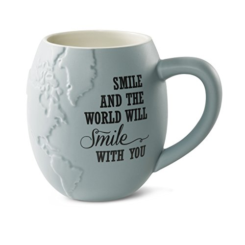 Pavilion Gift Company 61033 Smile Stoneware Mug, 22-Ounce Capacityed