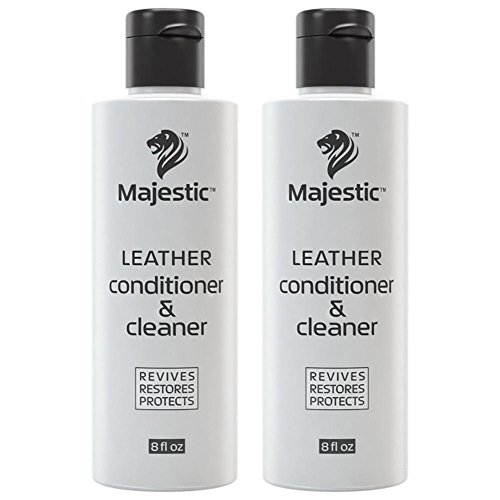 Majestic Leather Cleaner & Leather Conditioner – 2 in 1 – for use with Shoes, Apparel, Automotive Interior, Saddles, and Furniture (8 oz. (Pack of - Black And Pradas White