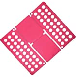 Clothes Laundry Folder Flip Speed Magic Shirts Folding Board GH8323 Pink