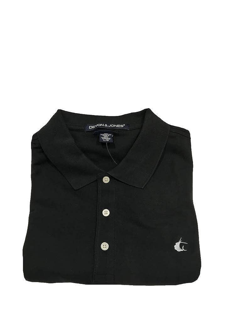 Contender Black Cotton Polo w//Light Grey Sailfish