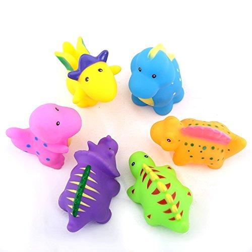 - Dinosaur Squirt Toys Bathtub Toys Water Baby Bath Toys for Toddler Days Gift - Kids Fun Squirt Toys Floating Bathroom Toys Organizer Little Dinosaur Squirts Fun Bath Toys Set 6 Pieces