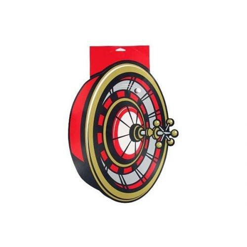 Roulette Wheel Cardboard Cutout 17 X 13 Inch -