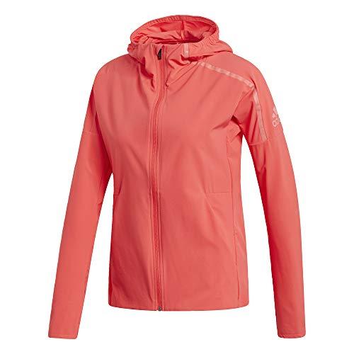 adidas Z.N.E. Femmes Veste de Course (Rouge):