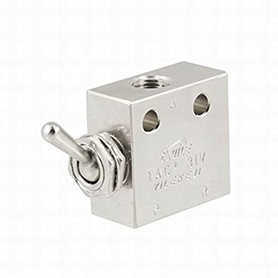 MariaP TAC2-31V 2 Position 3 Way Air Pneumatic Knob Control ON OFF Toggle Valve from MariaP