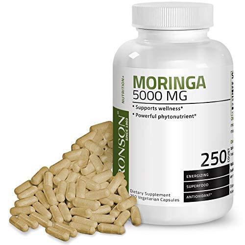 Bronson Moringa 5000 mg Extra High Potency Energizing Superfood Antioxidant, 250 Vegetarian Capsules