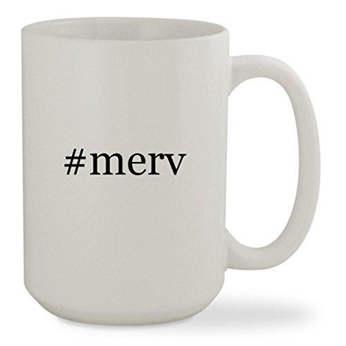 #merv - 15oz Hashtag White Sturdy Ceramic Coffee Cup Mug
