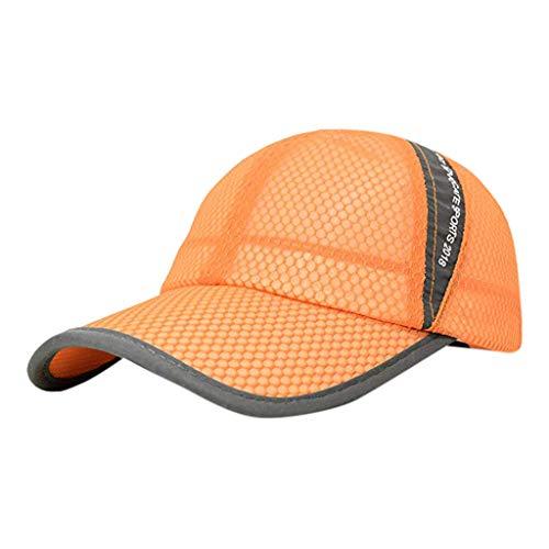 FEDULK Unisex Baseball Caps Mesh Breathable Quick Dry Outdoor Sport Casual Adjustable Sun Hat(Yellow)
