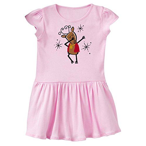 inktastic - Dabbing Dancer Reindeer Infant Dress 18 Months Pink 2dde0 ()