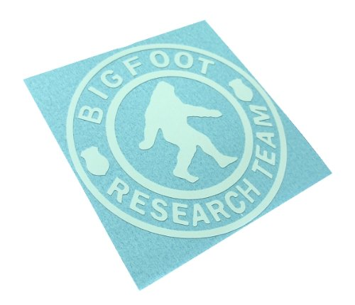 BIGFOOT RESEARCH TEAM Decal Sasquatch Yettie Funny Car Window Vinyl Sticker (Come With Zombie Hunter Permit Decal)