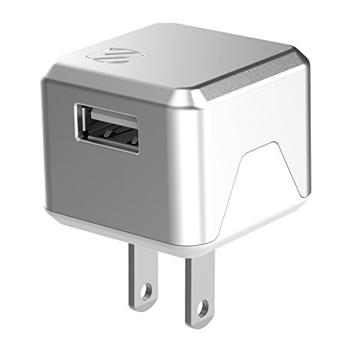 SCOSCHE USBH121SR SuperCube Flip 12W Single USB Port Wall Charger for All USB Devices - Silver ()
