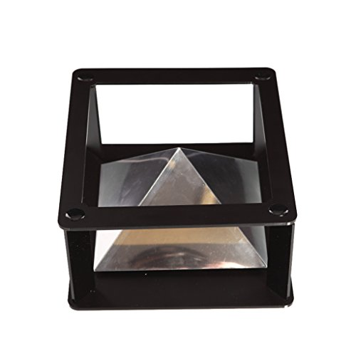 Jili Online Magic Box 360 3D Holographic Projection Pyramid Prism for iPad 6.5''-12'' inch Tablet DIY - Black